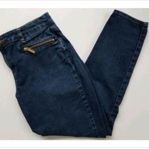 Michael Kors size 10 crop jeans gold hardware